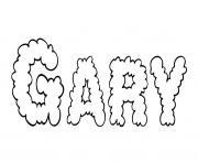 Gary dessin à colorier