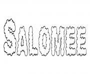 Salomee dessin à colorier