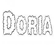 Doria dessin à colorier