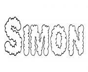 Simon dessin à colorier