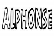 Alphonse dessin à colorier