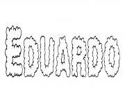 Eduardo dessin à colorier