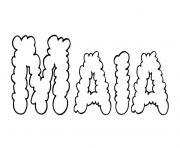 Maia dessin à colorier