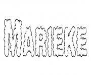Marieke dessin à colorier