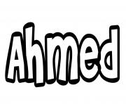 Coloriage Ahmed