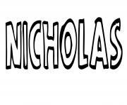 Nicholas dessin à colorier