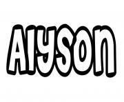 Alyson dessin à colorier