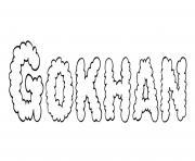 Gokhan dessin à colorier