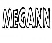 Megann dessin à colorier