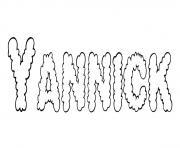 Yannick dessin à colorier