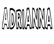Adrianna dessin à colorier