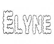 Elyne dessin à colorier