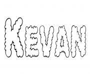 Kevan dessin à colorier
