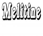 Melitine dessin à colorier
