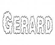 Gerard dessin à colorier