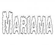 Mariama dessin à colorier