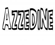 Azzedine dessin à colorier