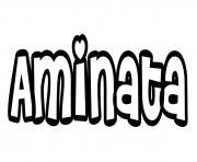 Aminata dessin à colorier