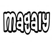 Magaly dessin à colorier