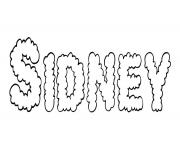 Sidney dessin à colorier