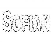 Sofian dessin à colorier
