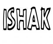 Ishak dessin à colorier