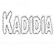 Kadidia dessin à colorier