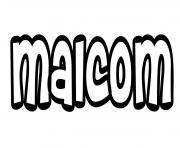Malcom dessin à colorier