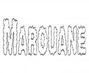 Marouane dessin à colorier