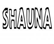 Shauna dessin à colorier