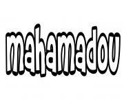 Mahamadou dessin à colorier