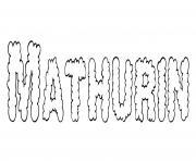Mathurin dessin à colorier