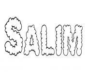 Salim dessin à colorier