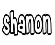 Shanon dessin à colorier