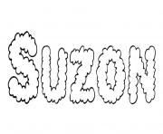 Coloriage Suzon