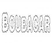 Boubacar dessin à colorier