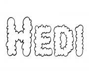Hedi dessin à colorier