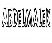 Abdelmalek dessin à colorier