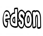 Edson dessin à colorier