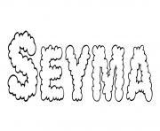 Seyma dessin à colorier