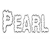 Coloriage Pearl