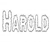 Harold dessin à colorier