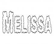 Melissa dessin à colorier