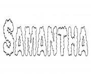 Samantha dessin à colorier