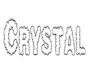 Crystal dessin à colorier