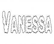 Vanessa dessin à colorier