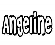 Angeline dessin à colorier