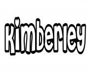 Kimberley dessin à colorier