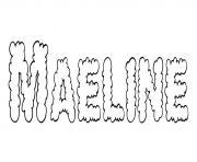 Maeline dessin à colorier