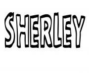 Sherley dessin à colorier
